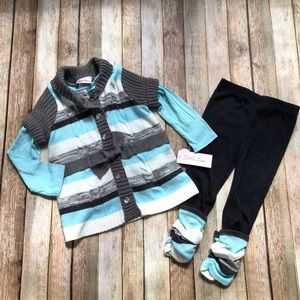 NWT Little Lass 3-Piece Outfit